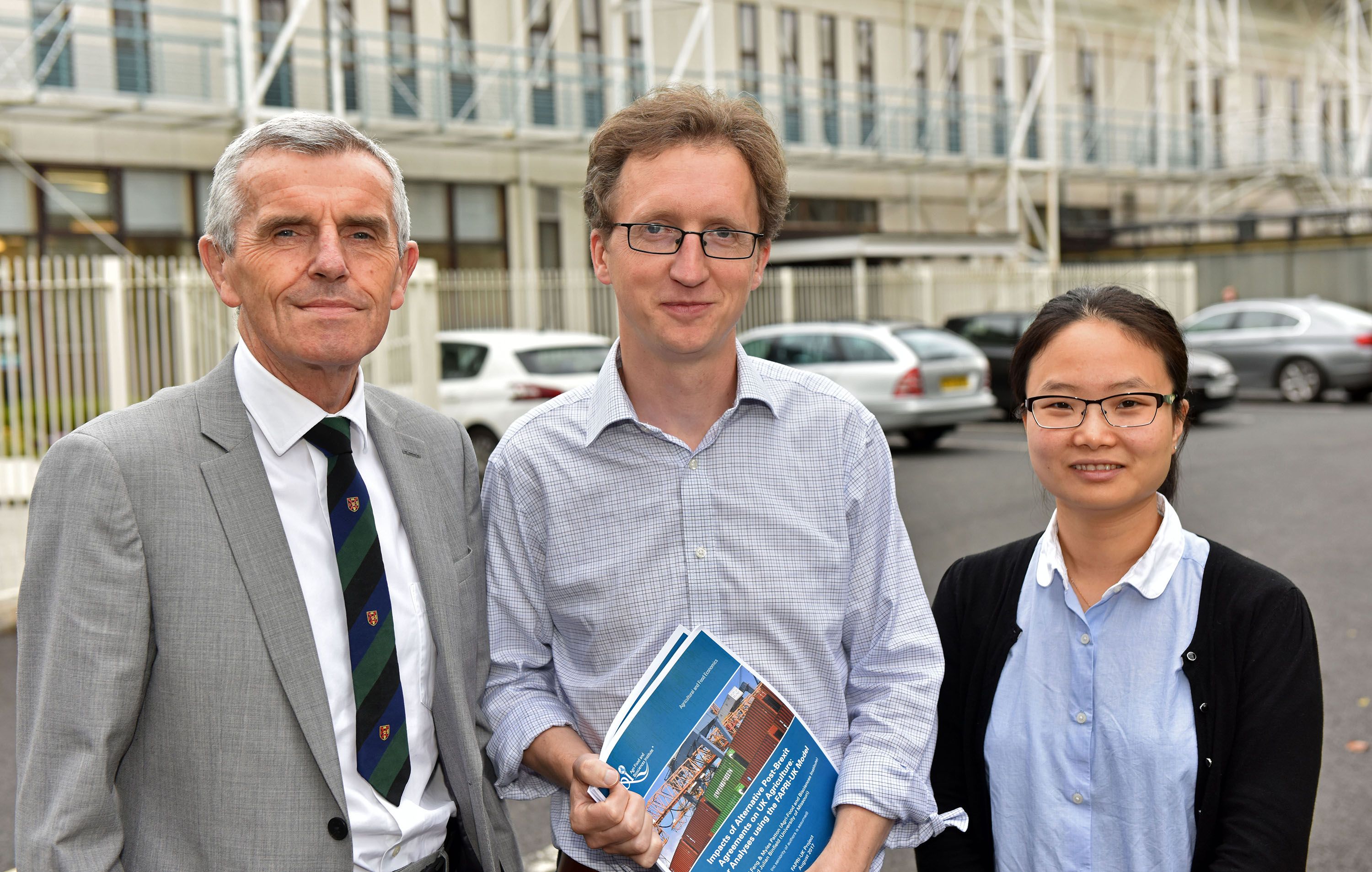 Prof John Davis, Dr Myles Patton and Dr Siyi Feng of AFBI, authors of the report