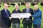 Dr Sinclair Mayne (AFBI), Victor Chestnutt (UFU), Ian Stevenson (LMC) and Dr Eric Long (CAFRE) launch plans of the 'Progressive Beef Production' conference