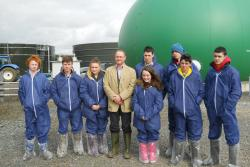 AFBI's Dr Gary Lyons with students from St Aidan's High School, Derrylin at last years schools tour