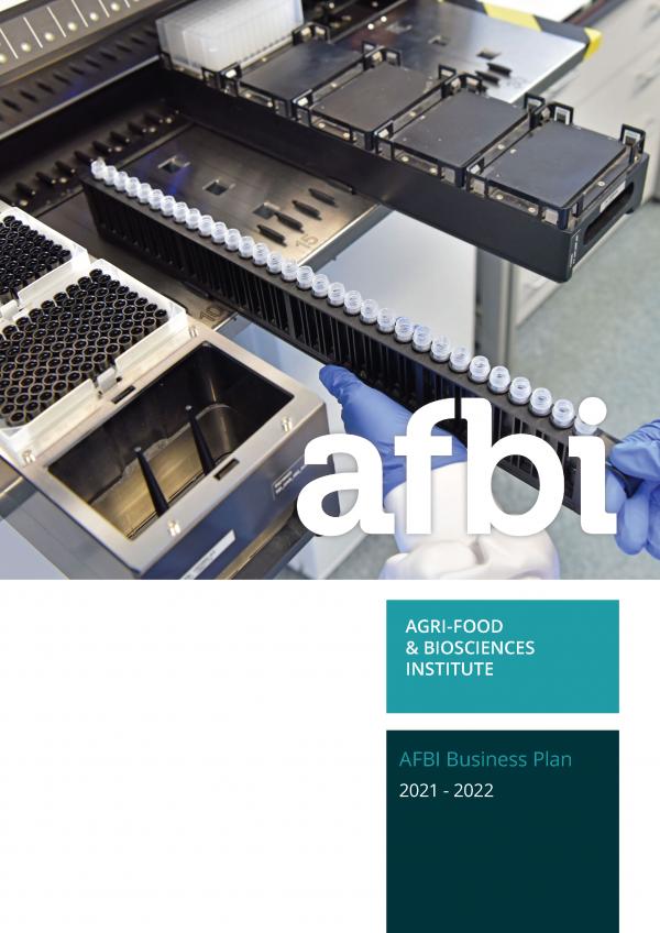 AFBI Business Plan 2021-2022 cover