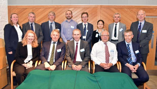 The panel of industry representatives who took part in the discussion at the seminar pictured with the report authors back row at the seminar pictured with the report authors back row, 2nd from right Professor John Davis, Dr Siyi Feng and Dr Myles Patton.