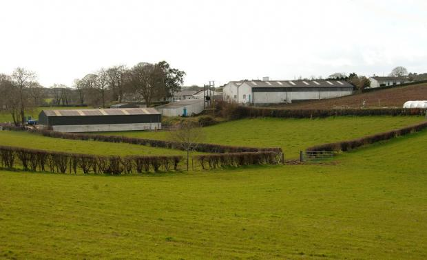 General farmyard buildings.