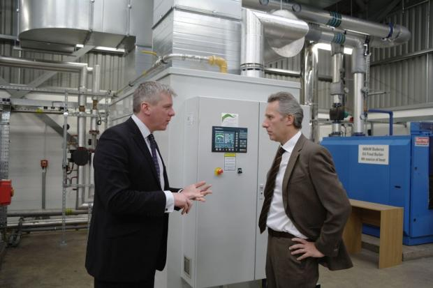 Mr Chris Johnston & Mr Ian Paisley discuss the research work at AFBI's Environment & Renewable Energy Centre