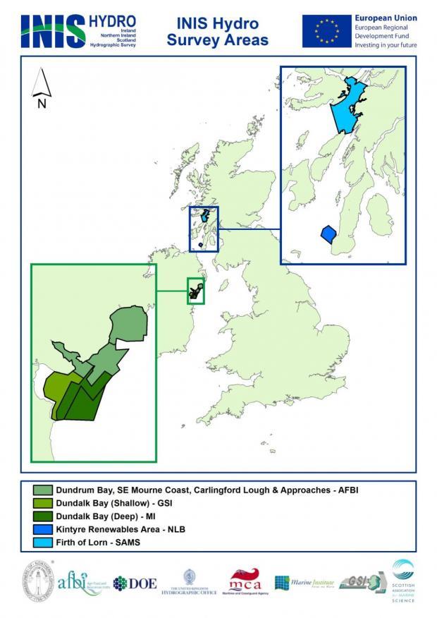 INIS Survey areas