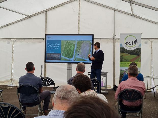 Dr Dario Fornara (AFBI) giving highlights from the 50 year old Long-Term Slurry Experiment