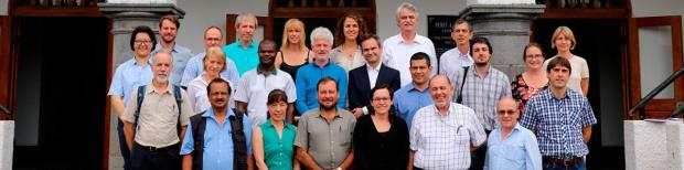 AFBI scientist, Dr Dario Fornara (first from the right in the group picture) during a FAO-LEAP meeting at CATIE (The Tropical Agricultural Research and Higher Education Center) in Costa Rica between 8 and 10 August 2017.