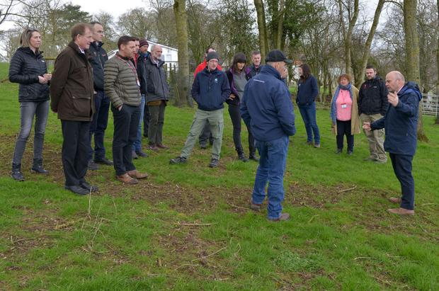 Members of the National Trust discuss AFBI research during the recent AFBI-hosted Land Management Forum