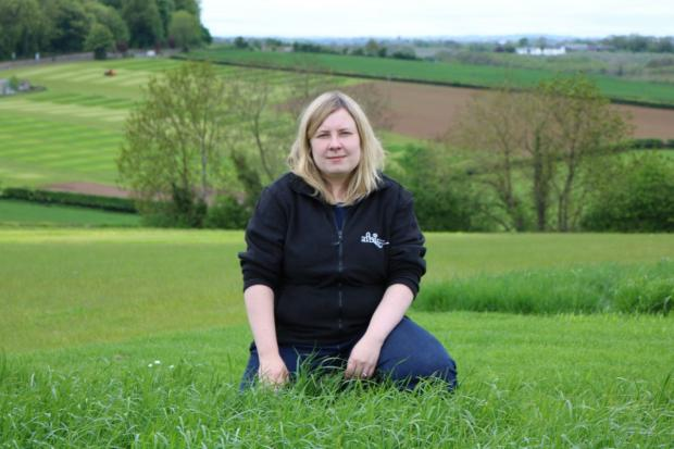 Gillian Young (Grass Breeder, AFBI) at Loughgall, Co. Armagh
