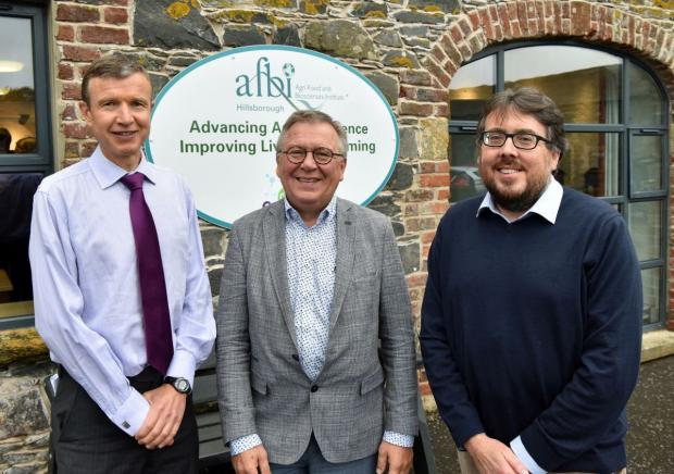 Pictured L-R. Mr Brian Ervine (Head of Environmental Farming DAERA), Dr. Oscar Schoumans (Chair of the Policy–Science Working Group & Wageningen University and Research)          Dr Donnacha Doody, (Programme Lead–Catchment Science, AFBI).