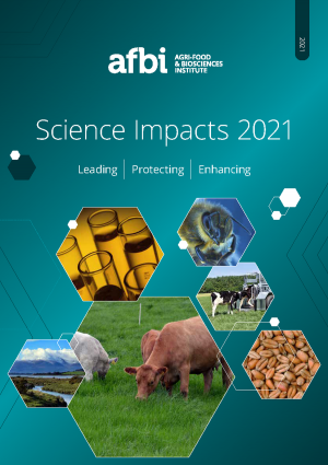 Cover image of the AFBI SCIENCE IMPACTS 2021 document