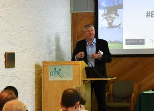 Chris Johnston Chairing the Biomass Resources session at the Annual Assembly of the 'Supergen Bioenergy Hub Extension'