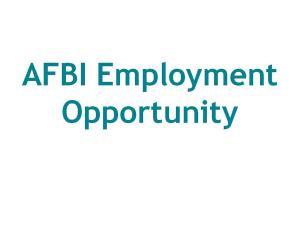 AFBI Employment