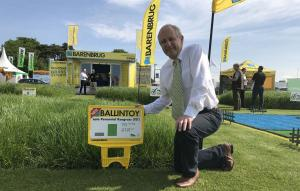 AFBI Grass Breeder David Johnston at the launch of Ballintoy at the Grassland and Muck event in Stoneleigh