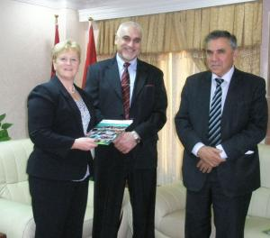 Professor Margaret Patterson (AFBI), His Excellency Professor Serwan Baban, Minister of Agriculture and Water Resources, and Mr Sardar Sami the DG of Agricultural research and extension at the signing of the contracts in Erbil, Kurdistan autonomous region