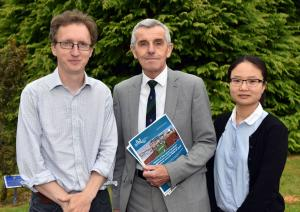Authors of the AFBI report pictured L-R Dr Myles Patton, Professor John Davis and Dr Siyi Feng