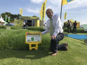 David Johnston (Grass Breeder, AFBI) with one of the newest AFBI varieties Ballintoy