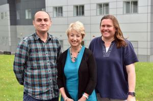 Dr Ken Lemon, Professor Louise Cosby and Dr Victoria Smyth (AFBI)