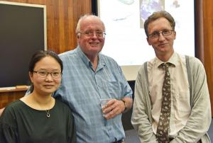 Dr SiYi Feng (AFBI), Professor Bruce McCarl and Dr Myles Patton (AFBI)
