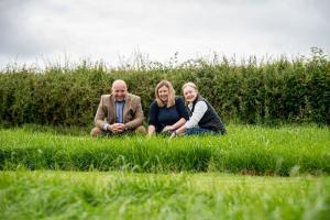 Pictured L-R, David Linton (Barenbrug, Regional Sales Manager NI), Gillian Young (AFBI Grass Breeder) and Mhairi Dawson (Barenbrug, Regional Sales Manager, Scotland).