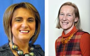 Roberta Brownlee (pictured left) and Kate Burns (pictured right) who were appointed to the AFBI Board in December 2017