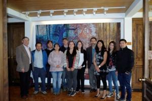 Dr Rodrigo Olave (AFBI) and Dr Fernando Munoz (University of Concepcion) with participants who attended the workshop at the Faculty of Forest Sciences, University of Concepcion, Chile.