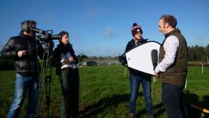 Filming at Hillsborough